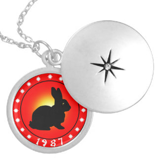 Year of the Rabbit 1987 Silver Plated Necklace
