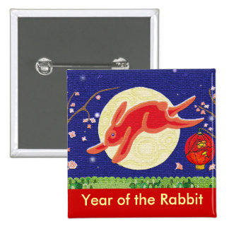 Year of the Rabbit 2011 15 Cm Square Badge