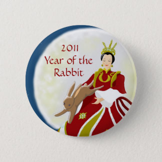 Year of the Rabbit 2011 6 Cm Round Badge