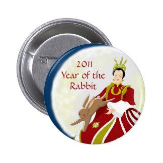 Year of the Rabbit 2011 6 Cm Round Badge
