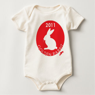 YEAR OF THE RABBIT BABY BODYSUIT