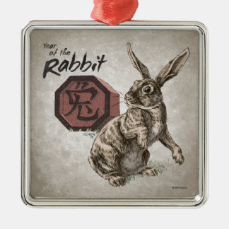 Year of the Rabbit Chinese Zodiac Art Christmas Ornament