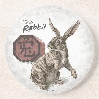 Year of the Rabbit Chinese Zodiac Art Coaster