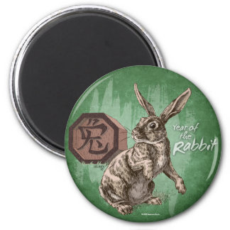 Year of the Rabbit Chinese Zodiac Art Magnet