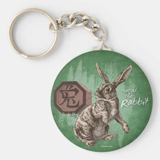 Year of the Rabbit Chinese Zodiac Astrology Key Chain