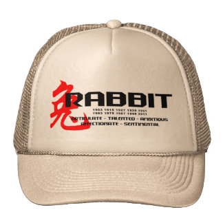Year of The Rabbit Years - Characteristics Cap