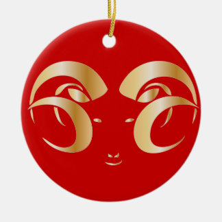 Year of the Ram / Sheep Christmas Ornament