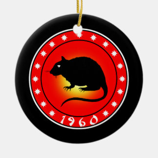 Year of the Rat   1960 Christmas Ornament