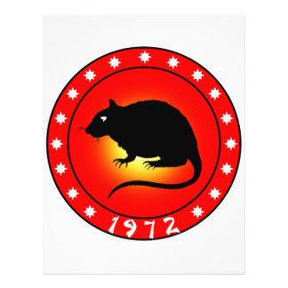 Year of the Rat 1972 Flyer Design