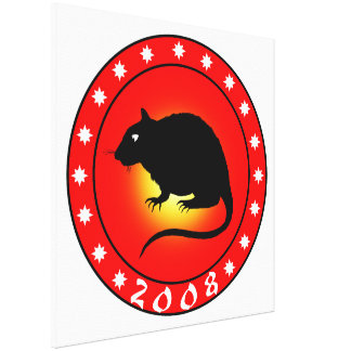 Year of the Rat 2008 Canvas Print
