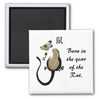"""Year of the rat"" Asian Rat magnet"