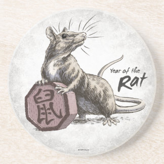 Year of the Rat Chinese Zodiac Art Drink Coasters