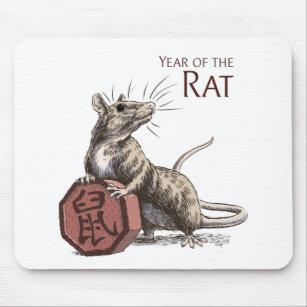 Rat Drawing Mouse Mats & Mouse Pads   Zazzle UK