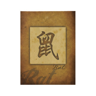 Year of the Rat_Chinese Zodiac Wood Poster