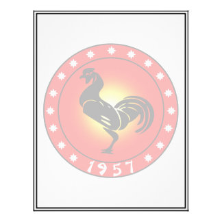Year of the Rooster 1957 21.5 Cm X 28 Cm Flyer