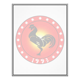 Year of the Rooster 1993 21.5 Cm X 28 Cm Flyer