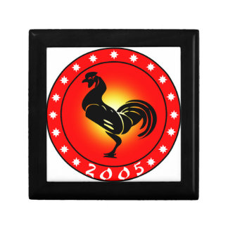 Year of the Rooster 2005 Small Square Gift Box