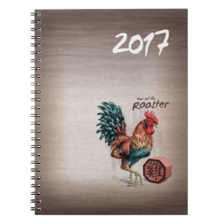 Year of the Rooster 2017 Chinese Zodiac Art Notebooks