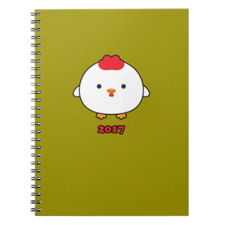Year of the Rooster 2017 Spiral Notebook