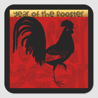 Year of The Rooster 2017 Square Sticker
