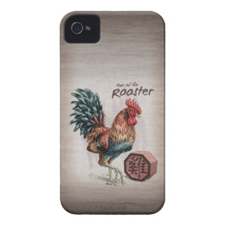 Year of the Rooster Chinese Zodiac Art iPhone 4 Case