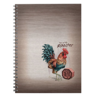 Year of the Rooster Chinese Zodiac Art Notebook