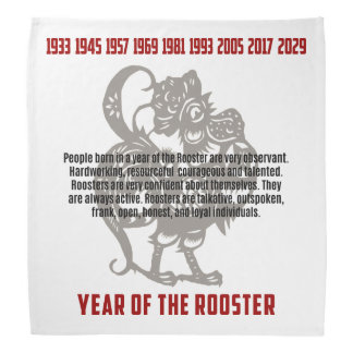 Year of The Rooster Traits Kerchiefs