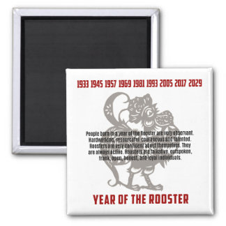 Year of The Rooster Traits Magnet