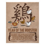 Year of The Rooster Traits Poster