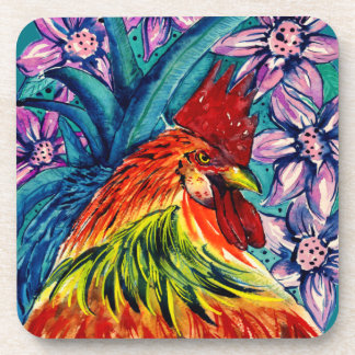 Year of the Rooster Watercolour Coasters (6)