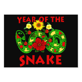 Year Of The Snake 13 Cm X 18 Cm Invitation Card