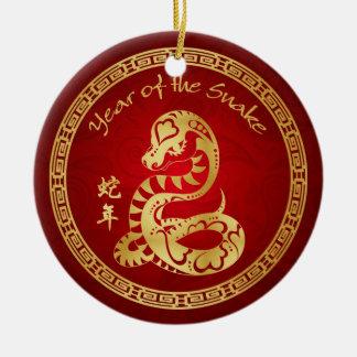 Year of the Snake 2013 - Chinese New Year Round Ceramic Decoration