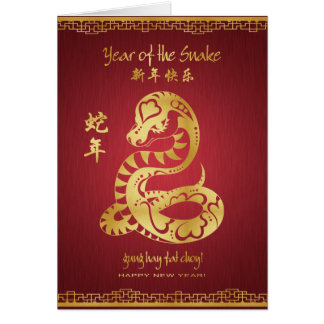Year of the Snake 2013 - Happy Chinese New Year Card