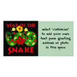 Year Of The Snake Personalised Photo Card