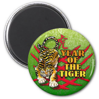 Year of The Tiger 6 Cm Round Magnet