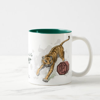 Year of the Tiger Chinese Zodiac Art Two-Tone Coffee Mug