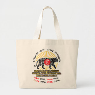 Year of the Tiger Qualities Large Tote Bag