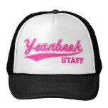 Yearbook Staff (Baseball Script Pink) Cap