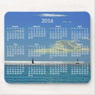 Yearly Calendar 2016 Mousepads Beach Photo