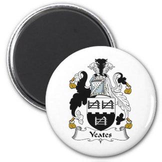 Yeates Family Crest 6 Cm Round Magnet