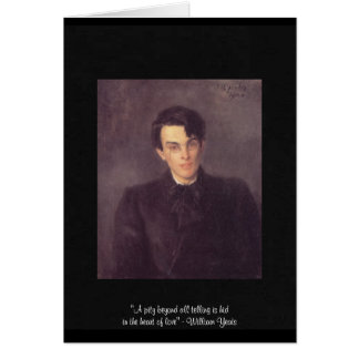 """Yeats """"Heart Of Love"""" Quote On Greeting Card Cards"""