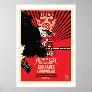 YEBO God Saves & Satan Purchases Poster