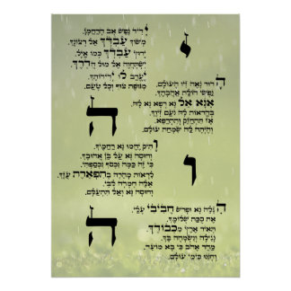 Yedid Nefesh Poster
