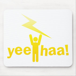yee haa ! lightning man mouse pad