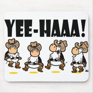 Yee-HAAA! Linedancing cows Mouse Mat