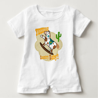 """Yee Haw Country Baby"". Baby Romper Baby Bodysuit"