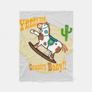 """Yee Haw Country Baby"" Fleece Blanket"