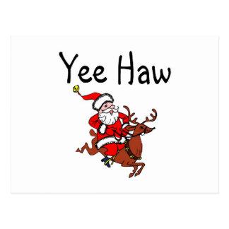 Yee Haw Cowboy Santa Claus Postcard