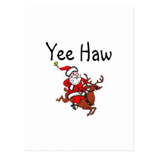 Yee Haw Cowboy Santa Claus Post Card