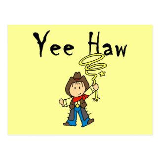 Yee Haw Cowboy Tshirts and Gifts Post Card